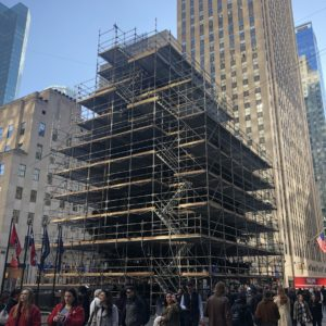 Rockefeller Christmas Tree hidden by scaffolding